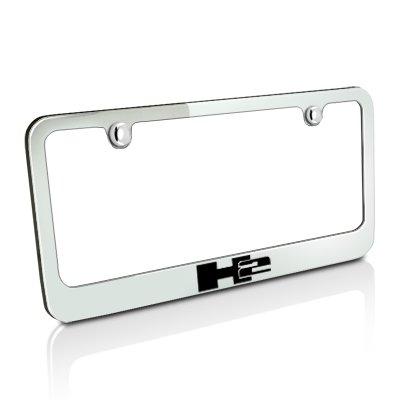Hummer H2 Chrome Metal License Plate Frame (Hummer H2 License Plate Frame compare prices)