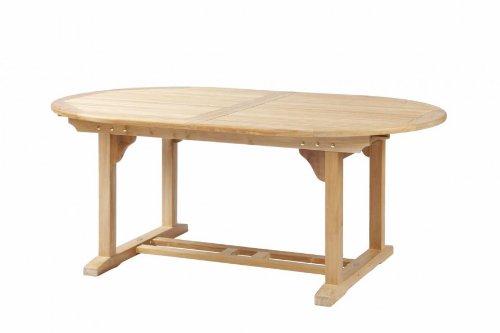 Teak *Premium* Tisch oval Ausziehtisch Modell Brighton von 180 cm auf 240 cm ausziehbar