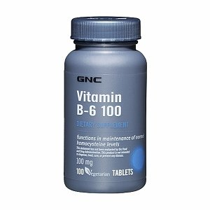 Gnc Vitamin B-6 100, Tablets, 100 Ea