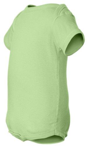 Rabbit Skins 100% Cotton Infant Baby Rib Bodysuit [Size 12 Months] Mint Green Short Sleeve Onesie