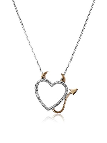 xpy-sterling-silver-and-14k-rose-gold-diamond-devil-heart-pendant-necklace-457cm