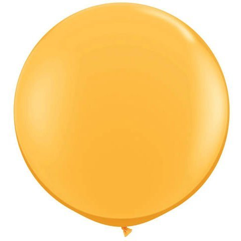 PIONEER BALLOON COMPANY 43633 Goldenrod Latex Balloon, 3'