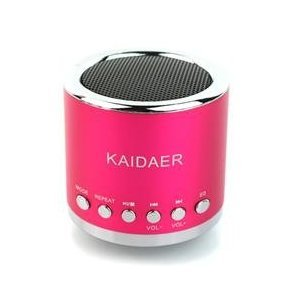 Portable KD-MN02 Mini Music SD USB Speaker FM for PC Mobile Phone MP3 Player(Pink)