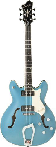 Hagstrom Vikpcus-Mib Viking P Electric Guitar, Miami Blue