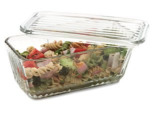 Anchor Hocking 5-c. Glass Refrigerator Storage Container.