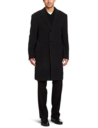 Calvin Klein Men's Plaza CoatCK男士羊毛混纺大衣 $105.75