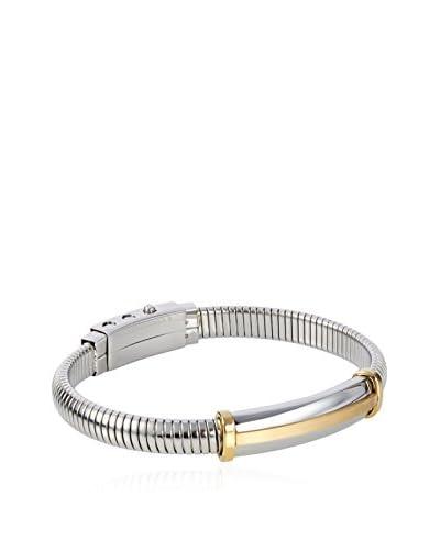 Blackjack Gold/Steel Stainless Steel Snake Bracelet