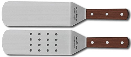 Turner Spatula Set by Oliver Rocket - Commercial Grade Stainless Steel Spatulas for Teppanyaki Grill, Hibachi Grill, or Griddle Grill (Metal Spatulas Sets compare prices)