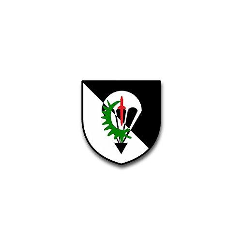 Aufkleber / Sticker - 4 FschJgBtl 252 Fallschirmjägerbataillon Nagold Bundeswehr Wappen Abzeichen Emblem passend für VW Golf Polo GTI BMW 3er Mercedes Audi Opel Ford (7x6cm)#A1484