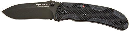 Ontario Knife 8873 OKC Joe Pardue Utilitac Folding Blade Knife, Black, 7.13-Inch