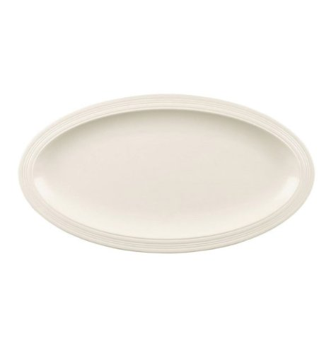 Casual Cream Oval Platter front-618782