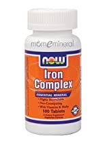 Iron Complex 100 Tablets by NOW Foods
