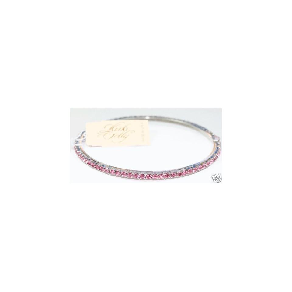 Kirks Folly Sparkling Crystal Bangle Bracelet ~ pink