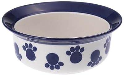 """Petrageous Designs Paws n' Around 6"""" Deep Pet Bowl, Cobalt"""