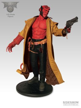 Picture of Sideshow Hellboy - 1/4 Scale Figure (B0006U6R3S) (Sideshow Action Figures)