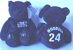 Charles Woodson (Oakland Raiders) Limited Treasures Premium Pro Bear