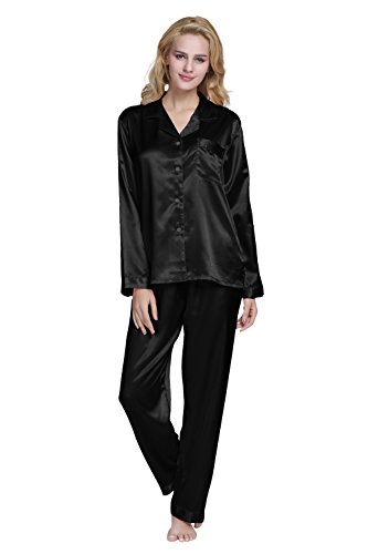 Tony & Candice Women's Classic Satin Pajama Set Sleepwear