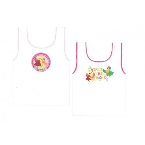 Girls 3rd & Bird Vests Undewear 4 Pack