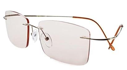 bdbba1dcdcaa Eyekepper Titanium Rimless Computer Reading Glasses Readers Men Women +1.75
