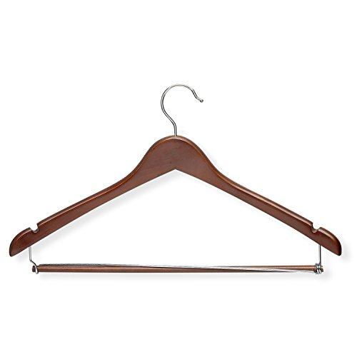 Honey-Can-Do HNGT01265  Contoured Suit Hanger with Locking Bar Cherry, 6-Pack (Suit Hanger With Locking Bar compare prices)