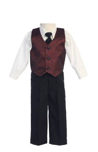 #1 Matching Family Holiday Thanksgiving Christmas New Year Dress Boy 2T Burgundy