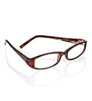 Diamanté Rectangle Frame Reading Glasses