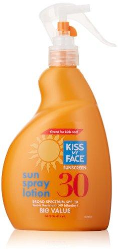 Kiss My Face Sun Spray Lotion Sunscreen Spf 30, 14 Fluid Ounce