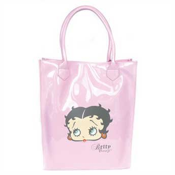 Grand Sac Shopping Betty Boop rose verni Cabas pour femme sac à main design