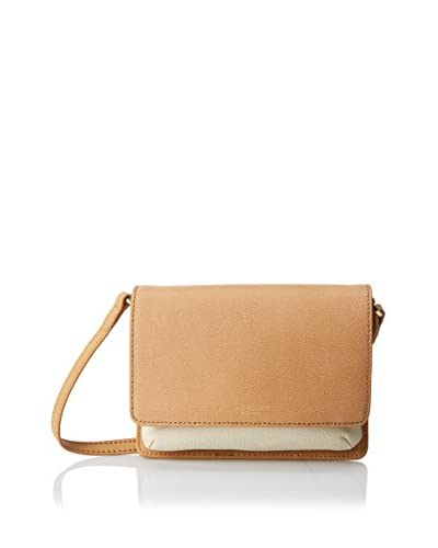 Isaac Mizrahi Women's Wendy Cross-Body, Camel/Antique White