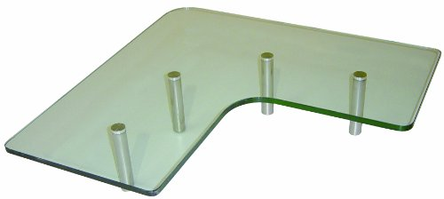Luxo Marbre KGCO 3030 CL Tempered Glass Shelf for Kitchen, Clear