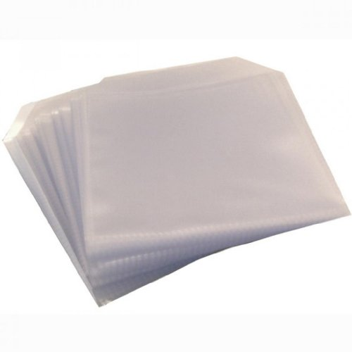 four-square-media-200-cd-dvd-disc-clear-cover-cases-plastic-120-micron-sleeve-wallet-2-x-100-pack