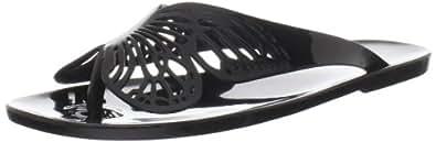 Melissa Women's Fly Sandal,Black,6 M US