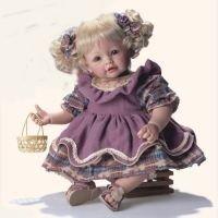 Girl - Blonde/Blue Purple Dress