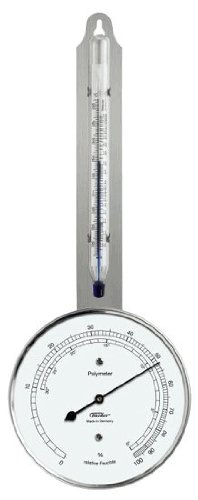 Ambient Weather Fischer Instruments 115-01 Laboratory Grade Indoor/Outdoor Thermometer with Synthetic Hair Hygrometer