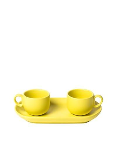 Bitossi Thuis espresso beker en lade 2 stuks . Opgericht geel