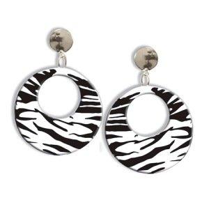 80s Zebra Earrings Accessory