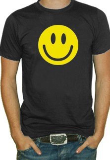 Smiley Face T-Shirt #300 (Men's Black)