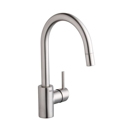 GROHE 32665DC1 Concetto Single-Handle Pull-Down Spray Head Kitchen Faucet