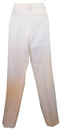 "Ralph Lauren Women's Pants ""Adelle"" Cream Slacks Size 8"