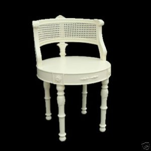 Cream dressing table chair french shabby chic furniture - Amazon bedroom chairs and stools ...