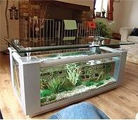 Coffee table fish tank 230l rectangle design in silver for Outdoor fish tank uk