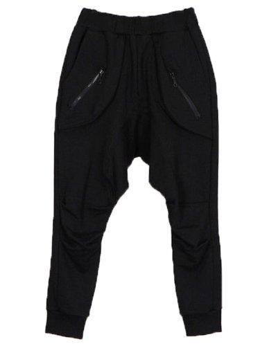 Men Casual Jogging Dance Sport Pants Trousers (Xxl, Black)