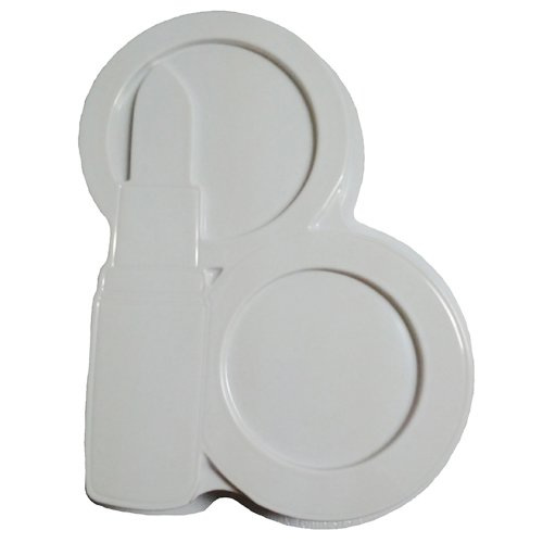 CK Products 49-5404 Plastic Lipstick Compact Cake Pan, White (Lips Cake Pan compare prices)