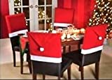 Christmas House 20 Santa Hat Chair Covers (Set of 4)
