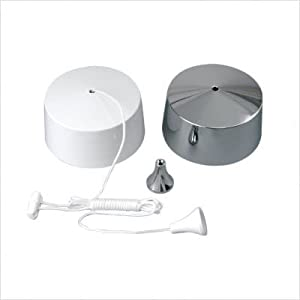 Ceiling Pull DIMMER Switch White / Chrome for Lighting Circuits