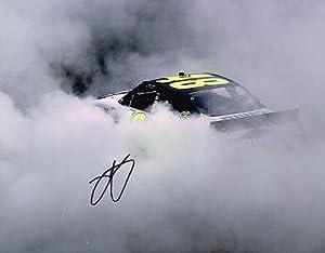 Jimmie Johnson Autographed Photograph - BURNOUT 11X14 COA - Autographed NASCAR Photos by Sports Memorabilia