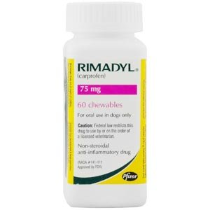 Rimadyl (carprofen) 75mg, 60 Chewable Tablets Picture