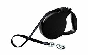 Flexi Explore Retractable Belt Dog Leash, Large, 26-Feet Long, Supports up to 110-Pound, Black