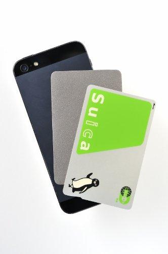 駅の改札やコンビニでピッ 非接触型ICカード読み取りエラー防止シート for iPhone 6/6 Plus (iPhone 5S/5C/5/4S/4にも対応) IC-IPH-01-SIL