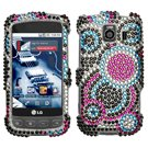 Asmyna LGLS670HPCDM015NP Dazzling Diamante Bling Case for LG Optimus S/Optimus U/Optimus V - 1 Pack - Retail Packaging - Bubble